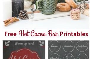 Hot Cocoa Bar Free Printables