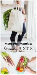 Menu Plan Monday: Week of January 15, 2018
