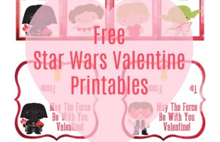 Star Wars Inspired Printable Valentines