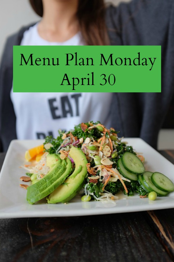 menu plan monday april 30