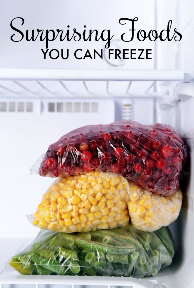 surprising foods you can freeze