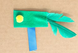DIY Felt and Feathers Cat Toy