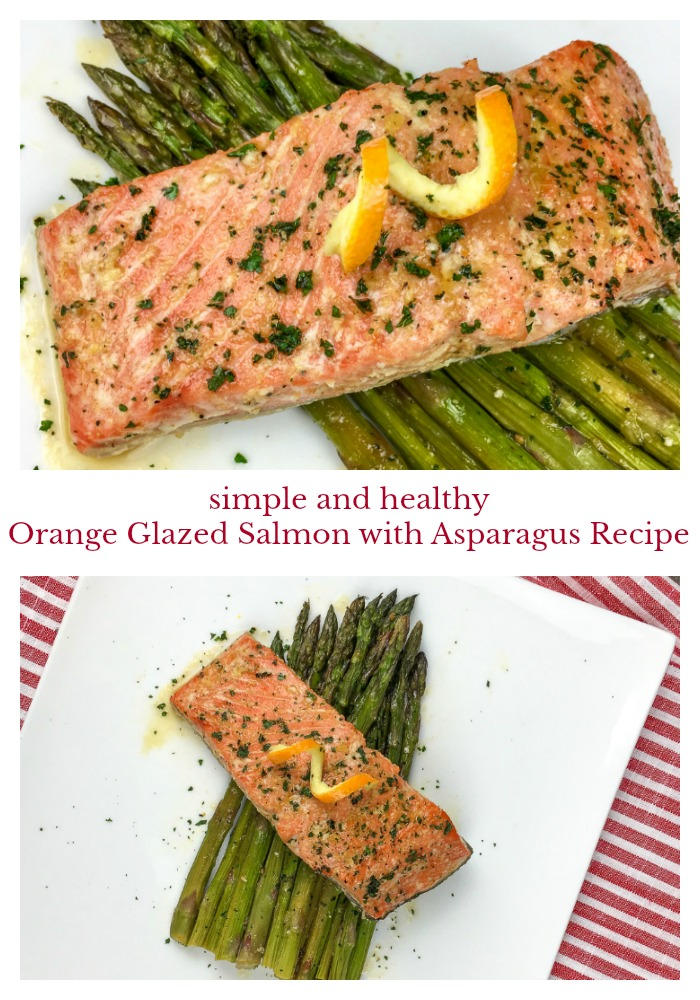 Simple Healthy Orange Glazed Salmon with Asparagus Recipe