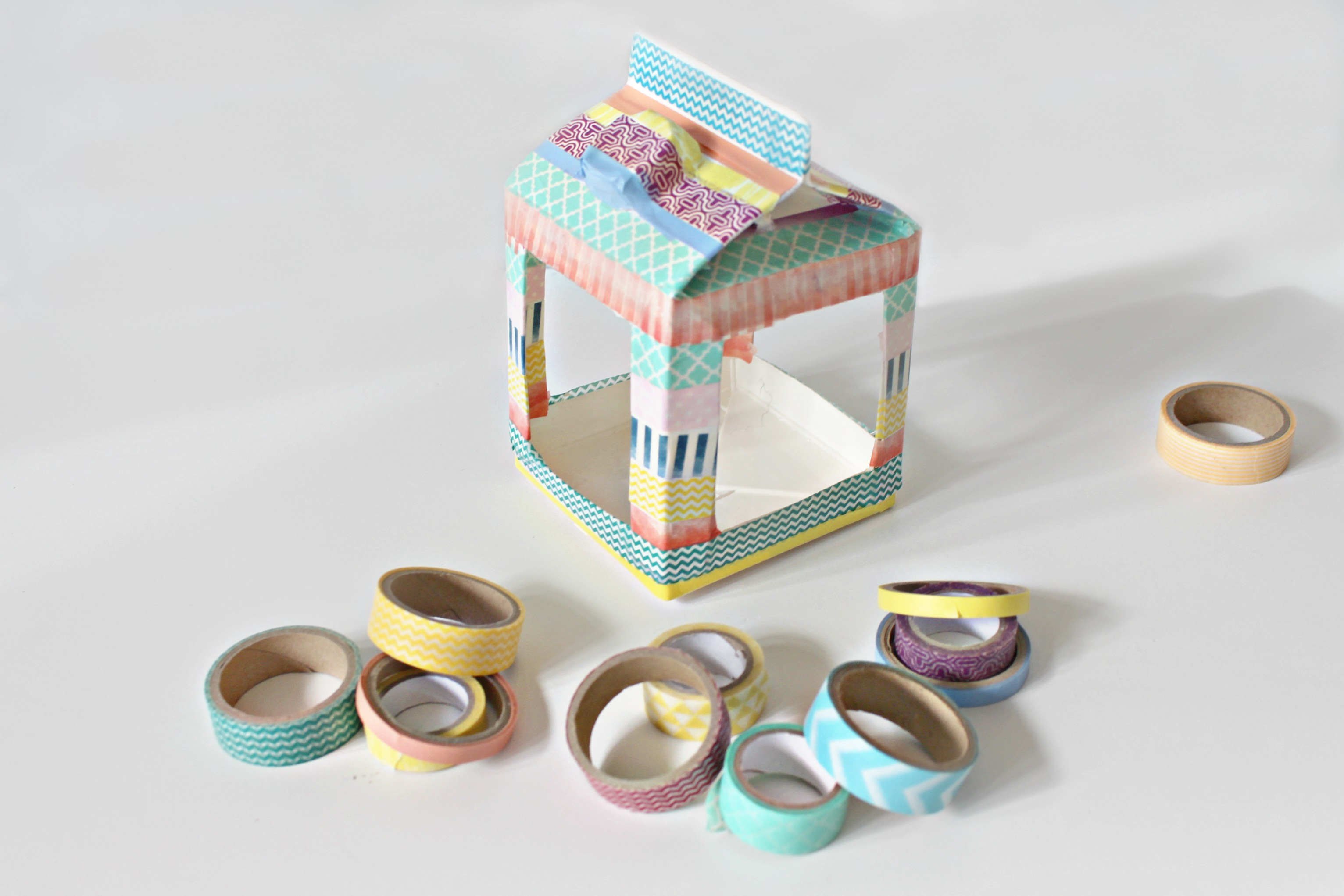 Step 7 washi birdhouse