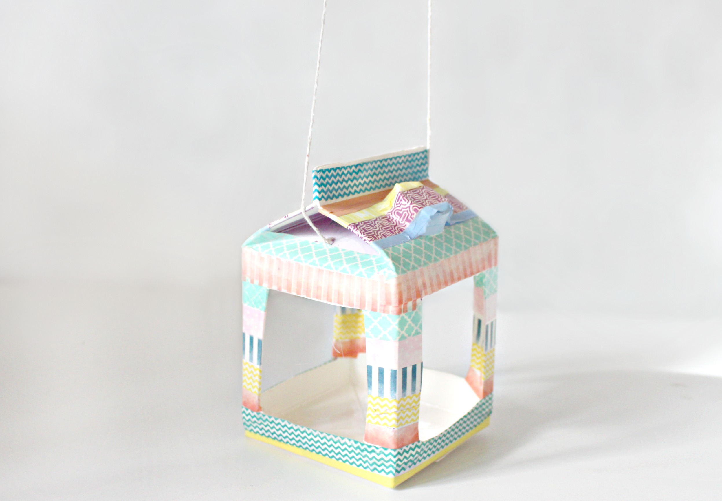 Step 8 - 10 washi birdhouse