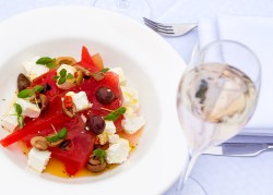 Watermelon Salad at Sopwell House by Executive Head Chef Gopi Chandran