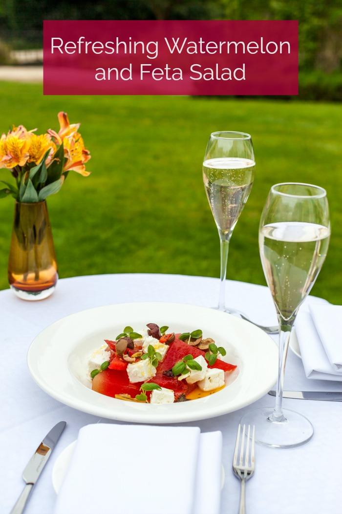 Watermelon and Feta Salad at Sopwell House by Executive Head Chef Gopi Chandran
