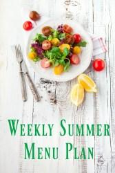 Weekly Summer Menu Plan July 9