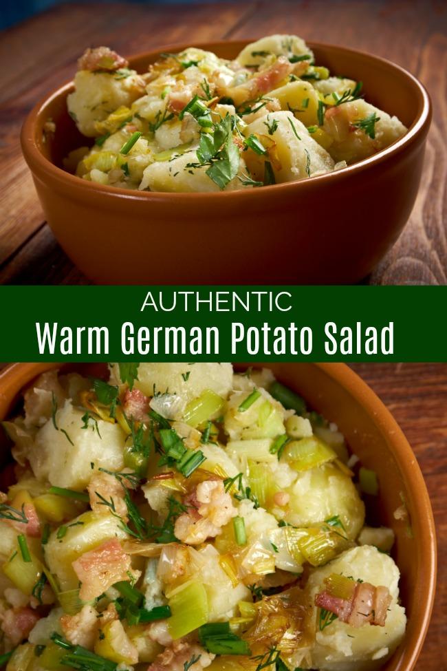 authentic warm German potato salad