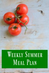 Weekly Summer Meal Plan July 16