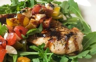Caprese Chicken Breasts with Balsamic Glaze Recipe