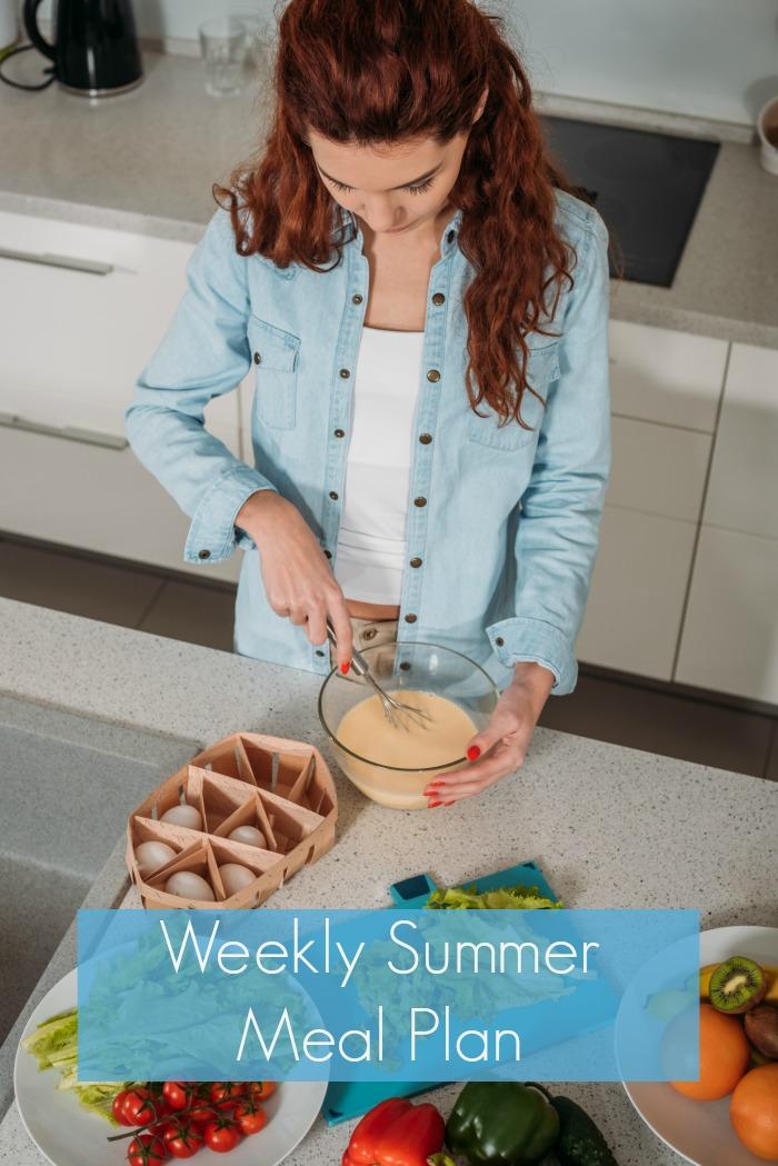 Weekly Summer Meal Plan