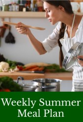 Weekly Summer Meal Plan August 27