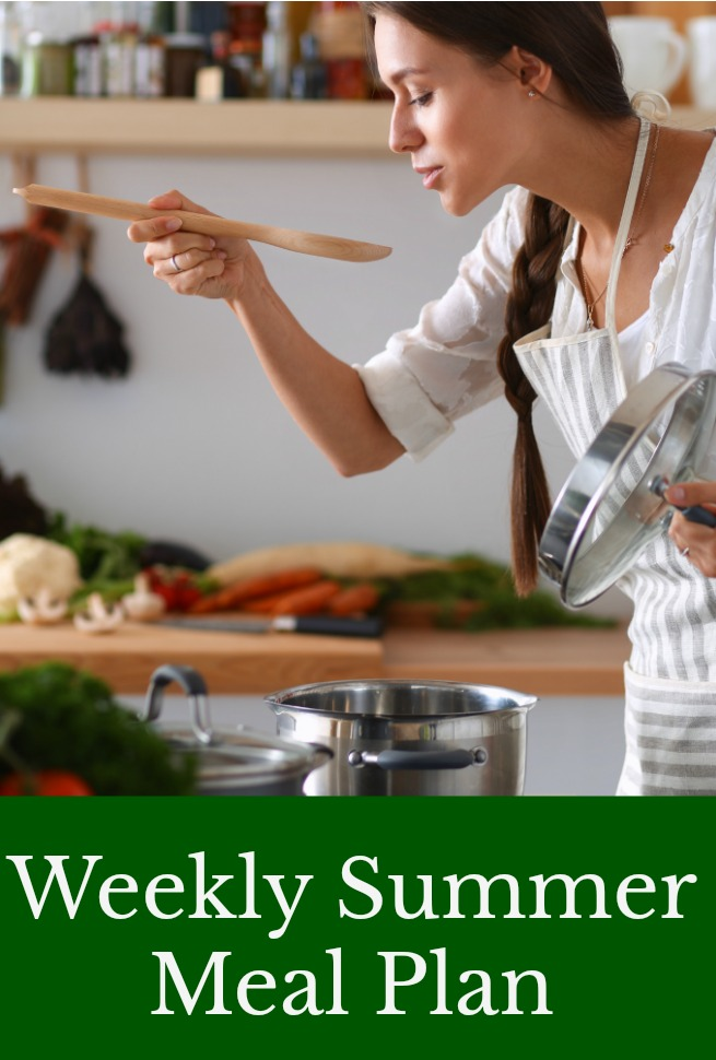 weekly summer meal plan