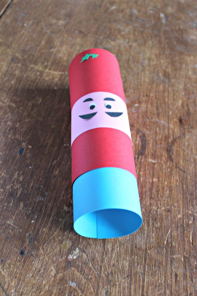 assembling paper nutcracker soldier
