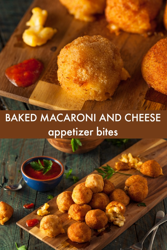 baked macaroni and cheese appetizer bites