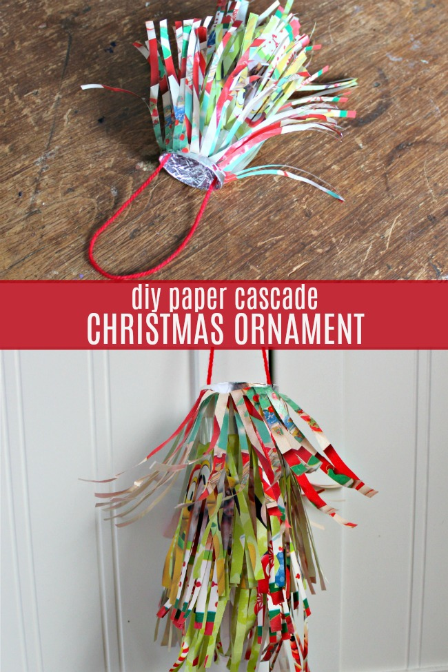 diy paper cascade christmas ornament