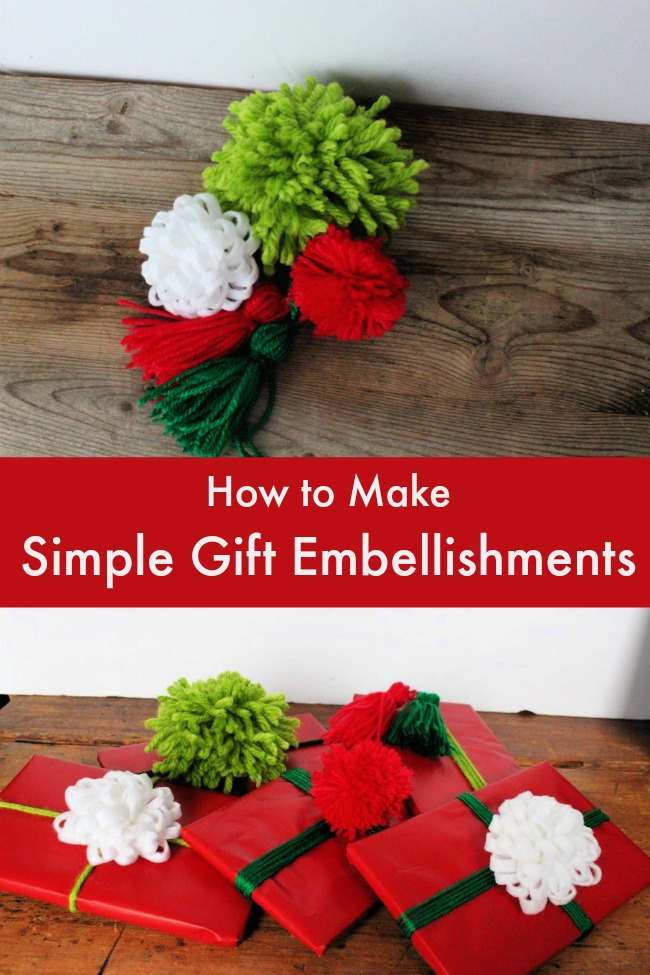 how to make simple gift embellishments