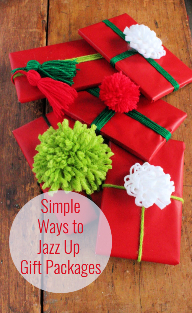simple ways to jazz up gift packages