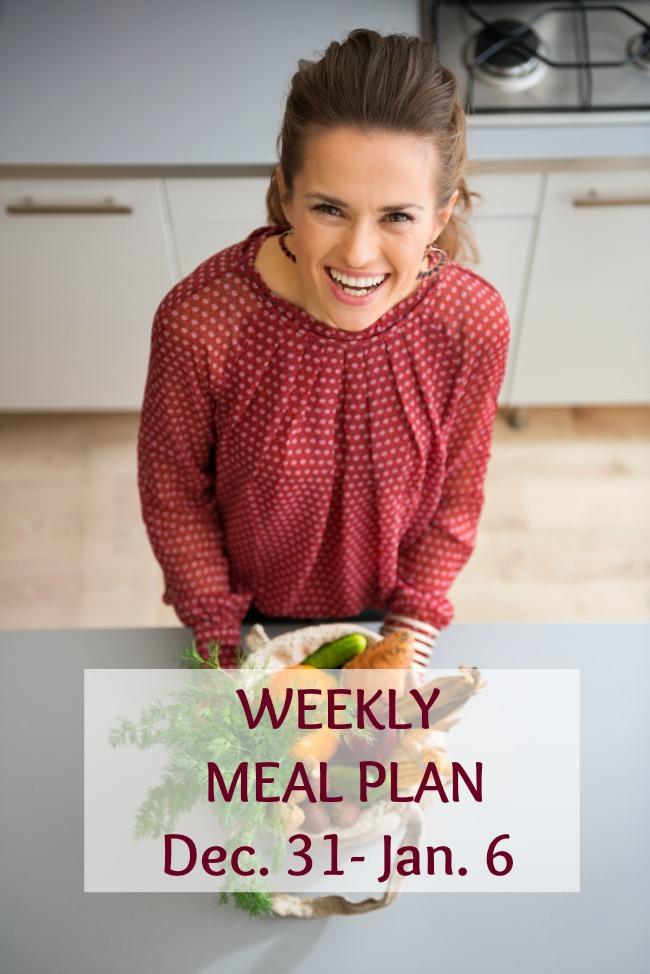 weekly meal plan december 31