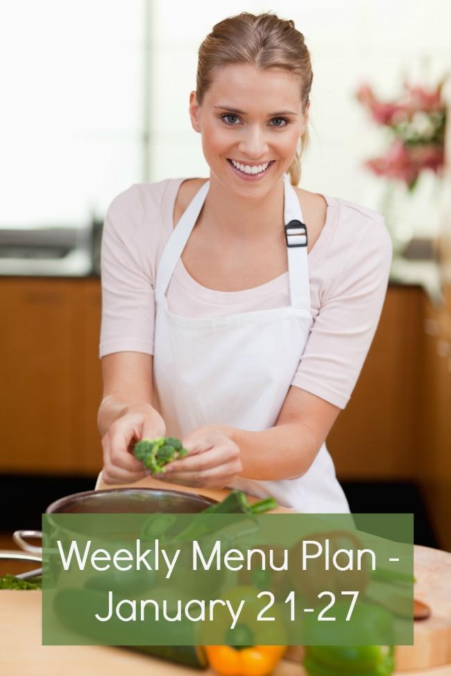 weekly menu plan january 21