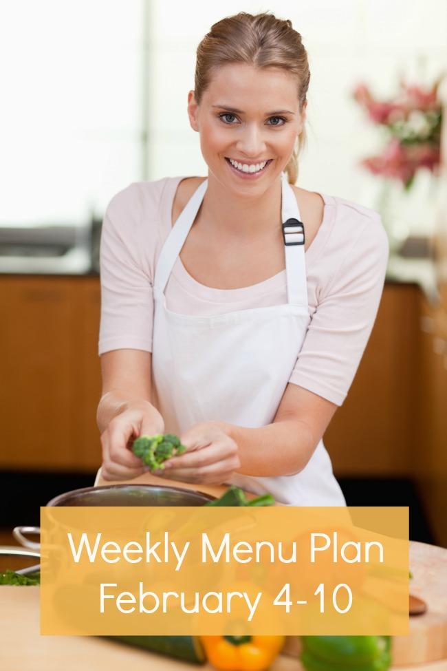 weekly menu plan february 3