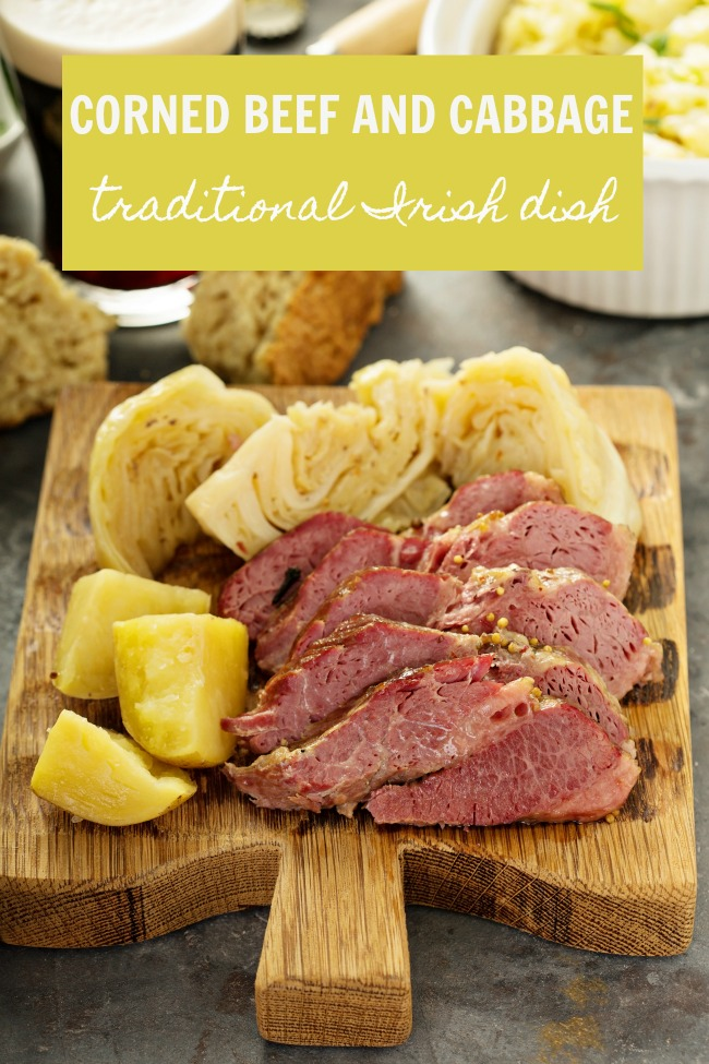 Corned beef and cabbage, Irish traditional dinner
