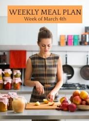 Weekly Meal Plan Week of March 4
