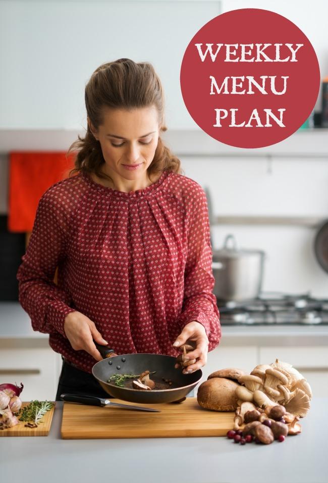 weekly menu plan march 18