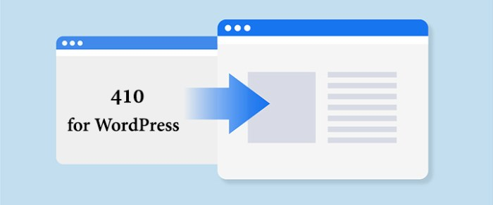410 for WordPress