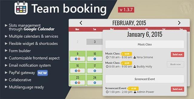 Team Booking WordPress plugin