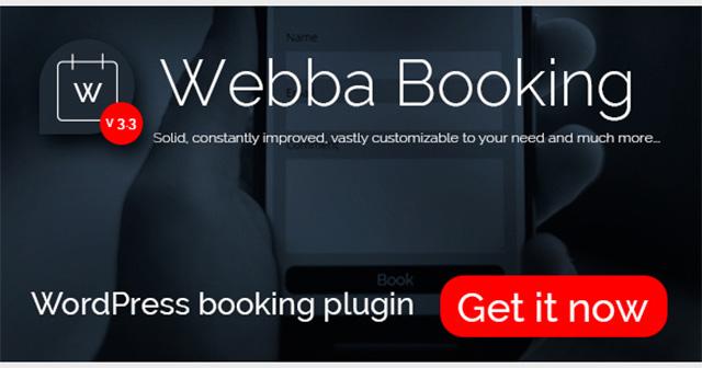 Webba Booking WordPress plugin