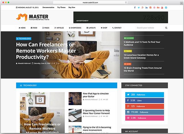 Master Premium Blog and Magazine WordPress Theme