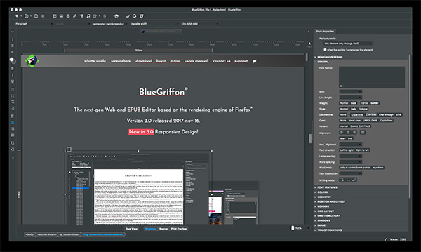 BlueGriffon CSS Editor
