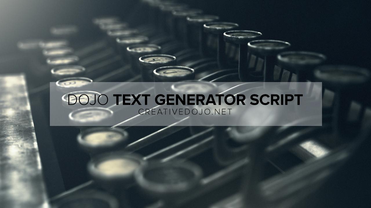Dojo Text Generator Thumbail