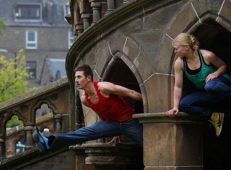 DDP Partner Scottish Dance Theatre's Natalie Trewinnard and Jori Kerremans at McManus, Dundee Photo Nicole Guarino