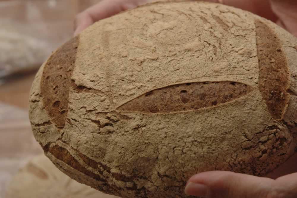 sourdough country bread smaller