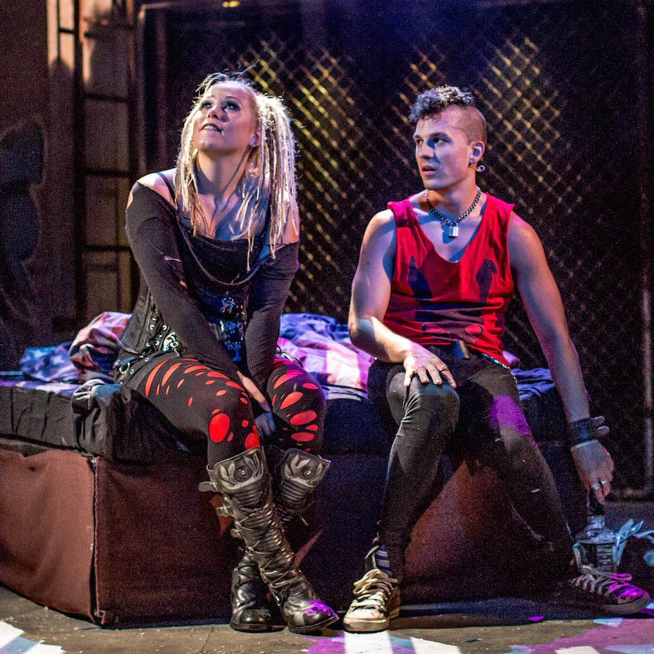 Amelia Lily, Aaron Sidwell, Cast of American Idiot, Green Day Musical, The Arts Theatre, London, England