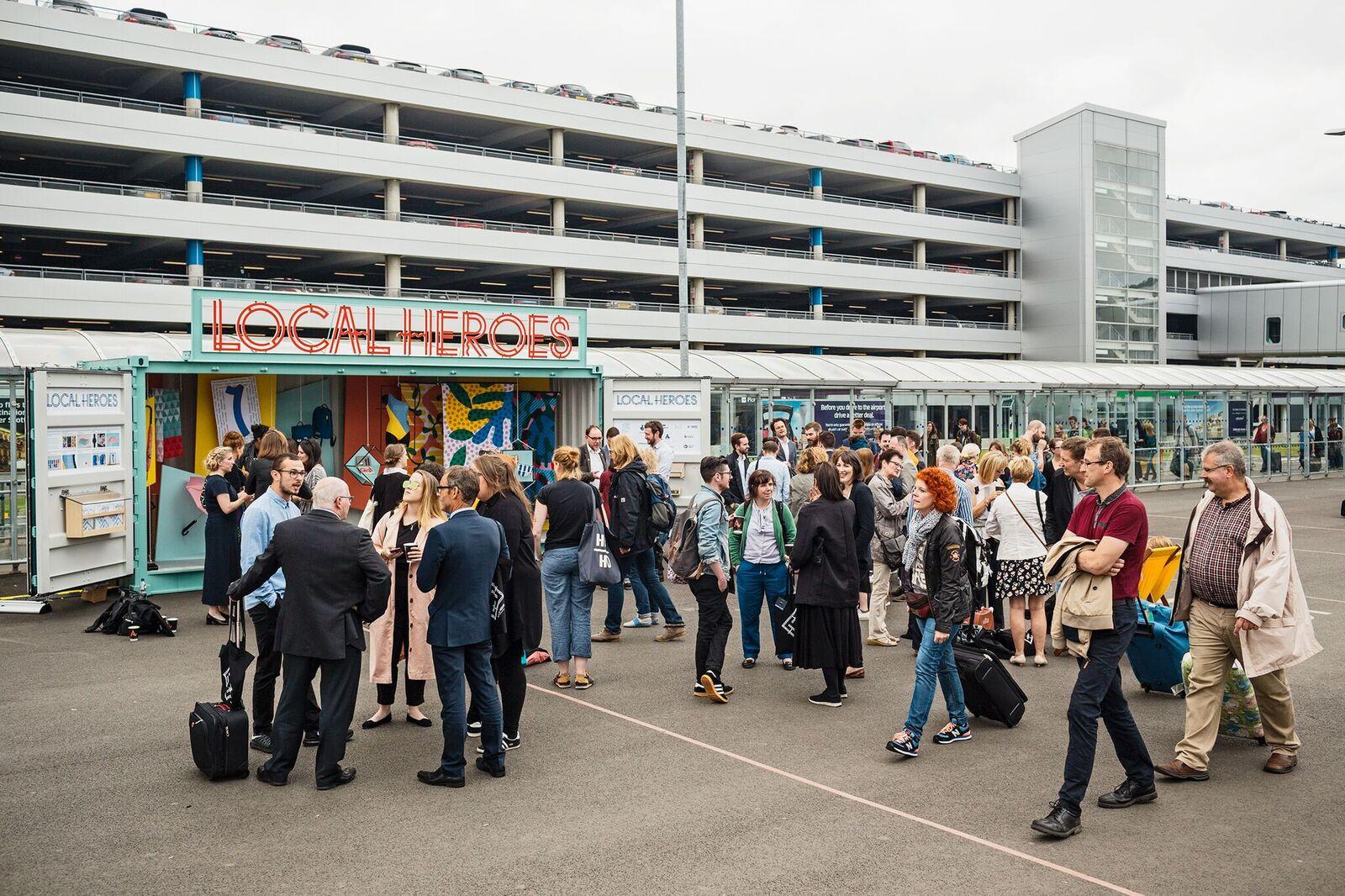 Local Heroes Exhibition launch at Edinburgh Airport. Image: StudioRoRo