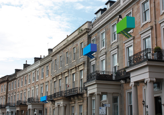 UP - an ongoing project to create temporary, collapsible balconies for the traditional Scottish tenement house.
