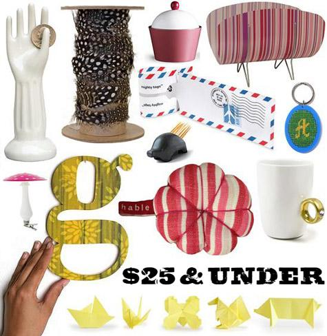 gifts for $25 and under by design*sponge