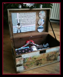 Make a sewing material storage box