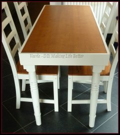 Table repair and makeover - How to make a table