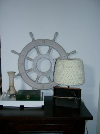 Crochet around a lampshade