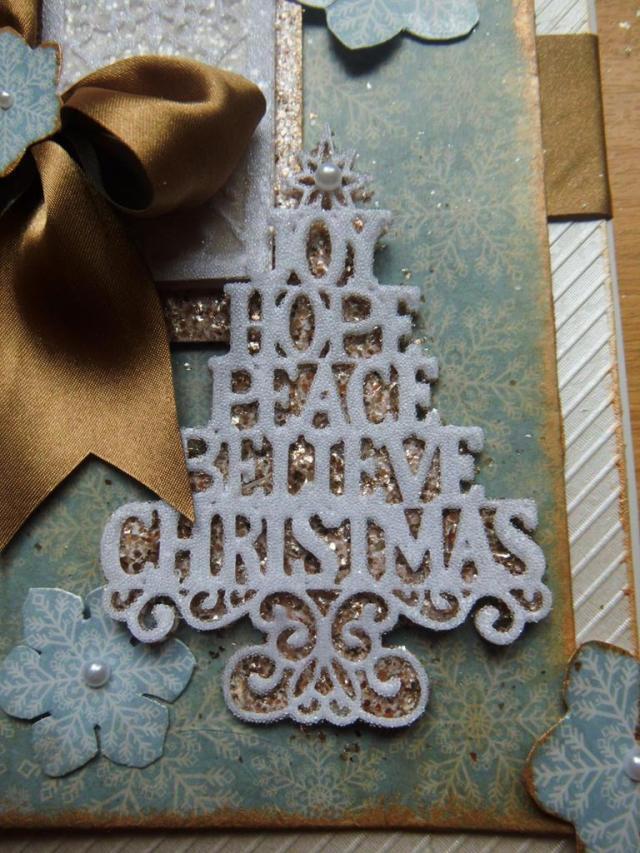 Sue Wilson Snowflake Panel Card