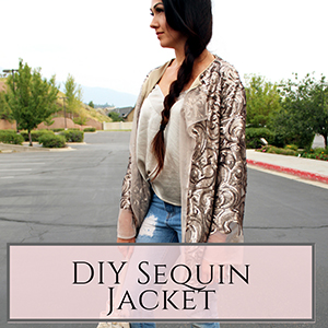 DIY Sequin Jacket