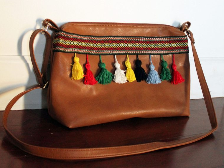DIY boho bag Leather Purse