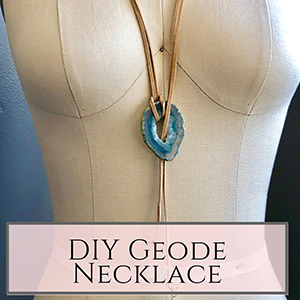 DIY geode necklace