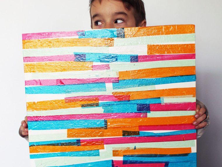 Tissue Paper Wall Art for kids