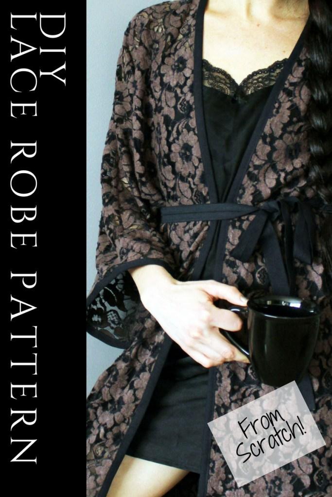 Easy Robe Pattern . Make A Lace Kimono